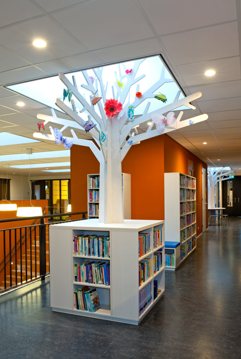 houten boom met boekenkast 2kick web