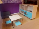 2KICK Daffy Bank Mini Tafel met Krukjes