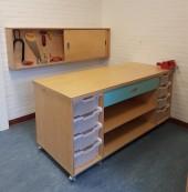 2017 Go KOV BSO De Zevensprong Lelystad Timmermuurkast en Werktafel van de muur af