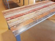 2kick BSO Landridder Verrijdbare Tafel met Houtprint