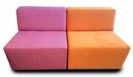 Elementenbank Flex 2 Losse Elementen Oranje en Met Print