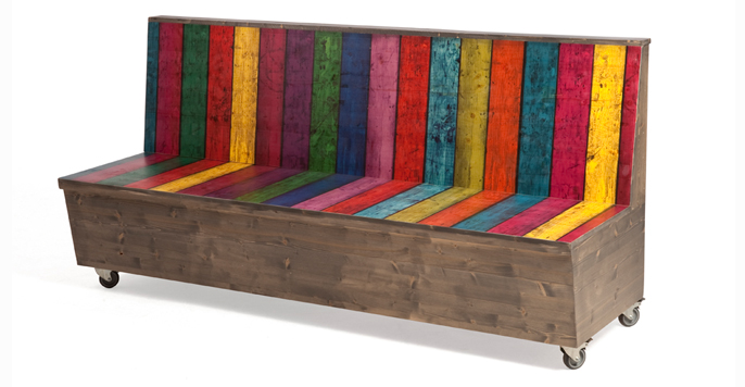 2kick meubelfabriek houten bank met afbeelding - Bank terras hout ...