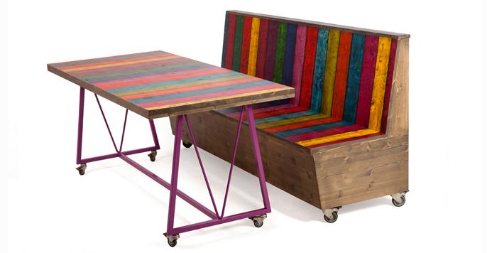 2kick meubelfabriek banken en fauteuils onderwijs - Bank terras hout ...