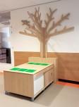 2KICK Houten Themaboom Wandmodel met Ombouw en Legotafel op Wielen 3