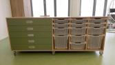 2KICK Atelierkast in Hout en Groen