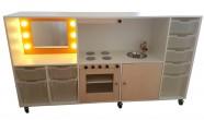 2KICK Daffy Keuken Theaterkast XL met Bakken Wit Oranje Berken