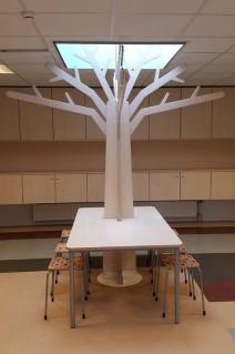 Grote Themaboom met RechthoekigeTafel op Wielen Vooraanzicht 2Kick