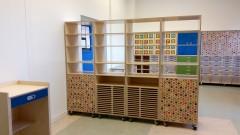 Atelierkast 2 Kast met blauwe lade 675px