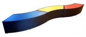 Zitelement Slang Snake Rood Blauw Geel Potllood Print Naast Elkaar Web